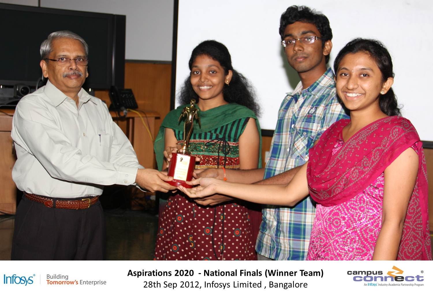 N.Anudeep , B.Sai Ishawarya, K.Sindhura from CSE were declared as National Championships in Aspirations 2020, Coding Contest from Infosys